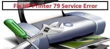 How to Fix HP Printer 79 Service Error?