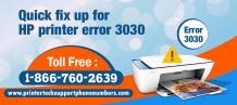 Quick fix up for HP printer error 3030