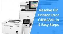 How to Fix HP Envy 5530 Printer error code C4EBA341