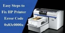 Step to Fix HP Printer Error 0x83c0000a