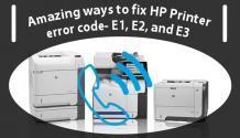 Call +1-855-847-1975   Fix HP Printer Error Code e2