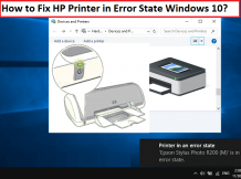 How to Fix HP Printer in Error State issues   +1-855-847-1975