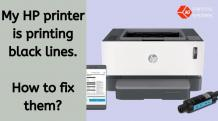 HP printer is printing black lines