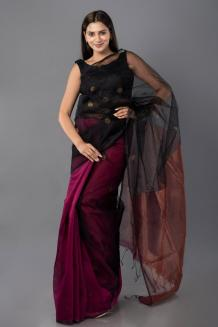 Experience The Luxury Of The Mulberry Silk Saree – hutsandloom