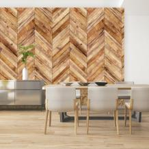 Herringbone Wood Plank Chevron Wallpaper Traditional Non | Etsy