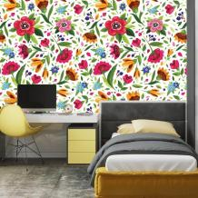 Colorful Floral Watercolor Wallpaper Traditional Non woven or   Etsy
