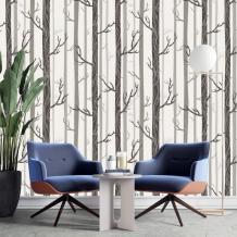 Birch Tree Design Wallpaper Rustic Farmhouse Decor | Etsy