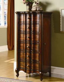 Lacking Jewelry armoire with mirror
