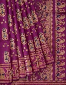 Baluchari Silk Saree with Blouse Piece - Ayanna Sarees