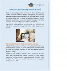 iPad for Hospital