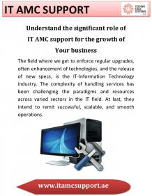 IT AMC Support Dubai, UAE - Techno Edge Systems