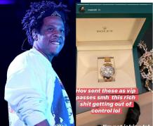 Jay-Z sends $40K Rolex watches to Meek Mill, Swizz Beatz & his VIP guests ahead of his Shawn Carter Foundation Gala