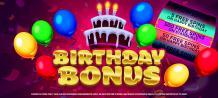 Delicious Slots - Promotions - Birthday Bonus