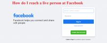 How do I reach a live person at Facebook?