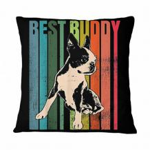 Vintage Boston Terrier Best Buddy Pillow | TeeShirt21