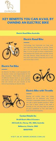 Key benefits you can avail by owning an electric bike