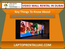 Key Things To Know About LED Video Wall Rental In Dubai