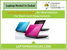 Laptop Rental In Dubai, For Short-term Requirements