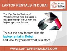 Laptop Rentals in Dubai for Testing Latest Tech