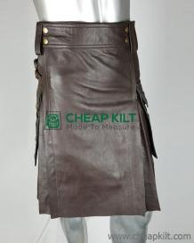 Leather Utility Kilt - Leather Kilt for Men - CheapKilt