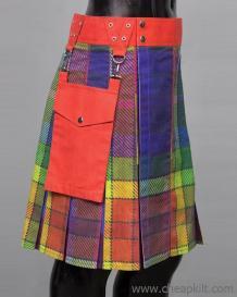 LGBTQ Gay Pride Fashion Kilt - Rainbow Kilt - Cheap Kilt