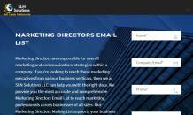 marketing directors email list