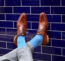 Oxford brogue shoes