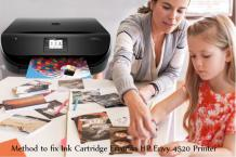 Method to fix Ink Cartridge Error in HP Envy 4520 Printer?
