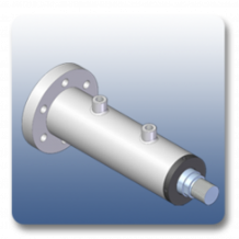 Front Flange Square Mechanical Cylinders | Marshal Haydromovers