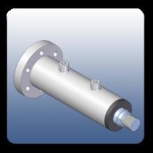 Rear Flange Square Mechanical Cylinders   Marshal Haydromovers