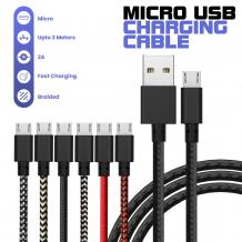 Micro USB Braided Charger Cable | Mobile Accessories