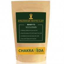 Amazonian White Clay | Best for skin | 100g by ChakraVeda