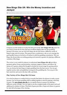 New Bingo Site UK- Win the Money Incentive and Jackpot | Visual.ly