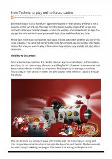 New Technic to play online Kassu casino