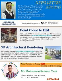 Architectural Drafting, Drawing, Rendering and 3D BIM Modeling Services NewsLetter June-2019.