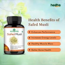 Safed Musli Capsules - Your Daily Supplement for Extra Energy