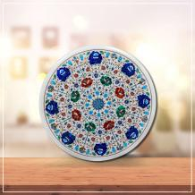 ROUND SHAPE CENTRE TABLE TOP WITH DETAILED WORK - Marble Inlay Handicraft Products