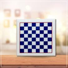 LAPISE BLUE CHESSBOARD WITH CHESS PIECES - Marble Inlay Handicraft Products