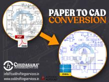 Paper to CAD Conversion | Scan PDF to CAD Drawing Services