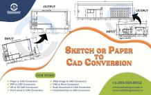 Paper to CAD Conversion | Sketch to CAD Drawing Services