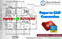 Paper to CAD Conversion | PDF to CAD | JPG to CAD Drawing Services