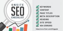 on page SEO for your website or blog