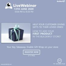 Personalize your store with Builderfly's next webinar |