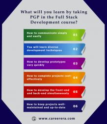 What will you learn by taking PGP in Full Stack Development Certification course?| Careerera