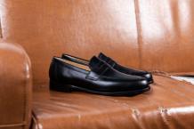 Portsmouth - Men's Black Leather Penny Loafer By Barker
