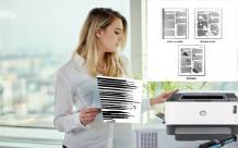 HP Printer printing black line