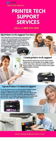 Printer tech support services for hp, Epson and canon