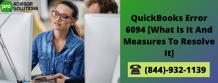 QuickBooks error 6094 0