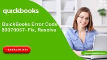 QuickBooks Error Code 80070057- Fix, Resolve - QBS Solved