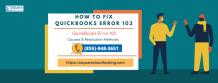 QuickBooks Error 103 | Fix QuickBooks Online Banking Error 103